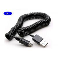 Buy cheap Data Sync Charger V3 Extension USB Cable Spring Coiled For Cell Phones MP3 MP4 from wholesalers