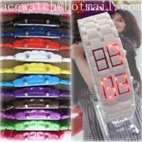Buy cheap HOT plastic lava led watch Led sport watch from wholesalers