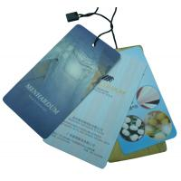 Buy cheap Custom Clothes Tag, Personalized Blue Clothing Paper Hang Tags For Bags / Hats from wholesalers