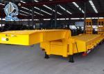 Buy cheap HOWO 3 Axles Semi Trailer Trucks , Flat Low Bed Trailer 30 Ton from wholesalers