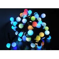 Buy cheap 5 Meters LED String Lights , 50LED RGB Multicolor Cotton Ball Globe String Lights from wholesalers