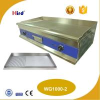 Buy cheap CE Best large electric griddle Counter top griddle half flat half grooved plate 12mm or 16mm hot plate WG1000-2 from wholesalers