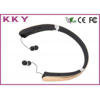 Buy cheap Luxury Gold Bluetooth Noise Cancelling Headphone For Apple IPhone / Smartphones from wholesalers