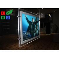 Buy cheap Cable Suspension LED Shop Display Graphic Size A3 A4 LED Light Pockets For Real Estate Store from wholesalers