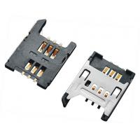 2.54 Pitch SIM Card  Connector , Sim Card Socket  6P With Shielded SMT 1.8H
