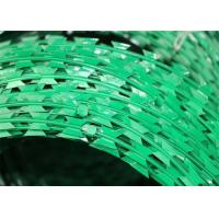Buy cheap Plastic Paint Razor Wire Pvc Coated Galvanized Concertina Wire Pvc Stinging Cage from wholesalers