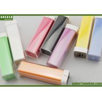Buy cheap Colorful Lipstick 1800mAh / 2200mAh 18650 Power Bank Mobile Phone Accessories from wholesalers