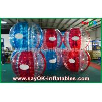 Buy cheap Heat Sealed Blue And Red 0.7mm TPU Inflatable Bubble Ball For Playing from wholesalers
