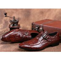 Buy cheap Mens Single Monk Strap Shoes , Moc Toe Dress Shoes With Embossed Crocodile Pattern product