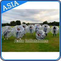 Buy cheap Fashionable Sports Entertainment Football Inflatable Body Zorb Ball For Hire from wholesalers