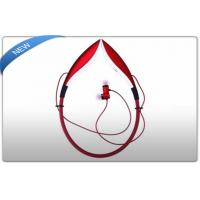 Buy cheap Red Bluetooth Wireless Stereo Headphones For Samsung / iPhone / LG product