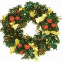Buy cheap Christmas Garland, Decorated with Balls, Berries and Pine Cones from wholesalers