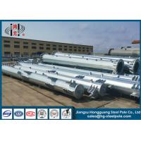 Buy cheap Low Voltage OEM Hot Dip Galvanized Steel Pole For Transmission Line Project Q345 from wholesalers