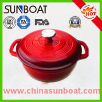 Buy cheap hot sale red color cast iron cookware large capacity enamel dutch oven product