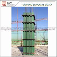 Buy cheap Adjustable arc-shaped plastic formworks shuttering for column concrete/ adjustable pp plastic plywood for construction from wholesalers