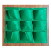 Buy cheap high quality wholesale ecofriendly vertical custom felt planting bag from wholesalers