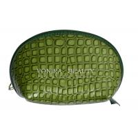 Buy cheap Crocodile Leather Makeup Pouch Shell Cosmetic Purses Handbag from wholesalers