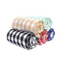 Buy cheap Kitchen Cotton Yarn Dyed Checks Pattern Household Waffle Tea Towel Set from wholesalers