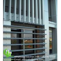 Vertical louver Architectural Aerofoil profile aluminum louver with oval shape for facade curtain wall