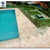 Buy cheap Swimming pool fence stainless steel spigots frameless glass railing design from wholesalers