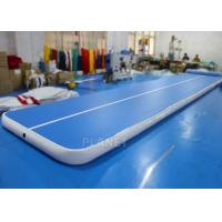 Buy cheap Flexible Inflatable Air Track Gymnastic Blue Surface Mattress For Sport from wholesalers