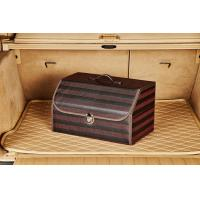 Buy cheap PU Wooden Black Auto Storage Organizer , Trunk Storage Organizer 50 * 32 * 30cm from wholesalers
