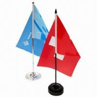 Buy cheap Table/Desk Flags Available in Various Materials, OEM Orders are Welcome product