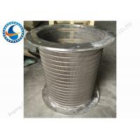 Buy cheap 50 Micron Reverse Flange Rotary Screen Drum , Wedge Wire Screen Drum from wholesalers