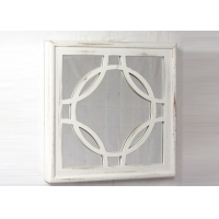 Buy cheap Living Room Square SGS Decorative Wood Framed Mirrors from wholesalers