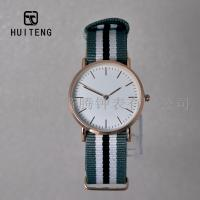 Buy cheap DW style two-pin fashion watch ultra-thin rose gold nylon ribbon watch band DW style watch student watch from wholesalers