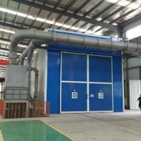 Buy cheap High Efficiency Shot Blasting Booth / Painting Room Manually Sandblasting Type from wholesalers