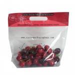 Buy cheap Clear Fruit Packaging Bags Custom Printing 100% Biodegradable Plastic Handle Zipper Lock from wholesalers