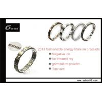 Buy cheap Pure Titanium Ceramic Negative Ion Power Magnetic Titanium Bracelet Health Benefits for male from wholesalers