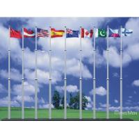Buy cheap Remote Control Electrical Aluminum Flag Pole , Extendable Flag Pole from wholesalers