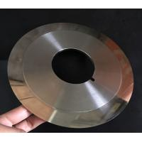 Buy cheap Customized Cloth Cutting Knife , Slitting Carbon Paper Machine Round Cutting Blades from wholesalers