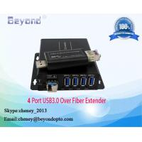 Buy cheap 4 port USB3.0 over fiber extender,4 port USB HUB to fiber converter,USB HUB to fiber transmitter and receiver from wholesalers