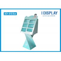 Buy cheap Advertising Floor Cardboard Shop Display Stands For Cosmetic Walmart Approved from wholesalers