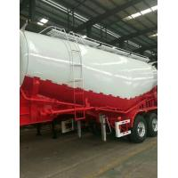 Buy cheap Carbon Steel Semi Truck Trailer / Powder Material Semi Flatbed Trailers from wholesalers