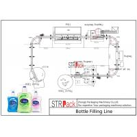 Buy cheap High Auto Shampoo Filling Line , Hand Wash Viscous Liquid Filling Machine from wholesalers