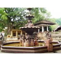 Buy cheap External villa design natural marble water fountain sculpture from wholesalers