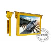 Buy cheap 19 Golden Color Bus Digital Signage , 3G Led Bus Advertising Display Screen 12 Or 24 Volt from wholesalers