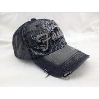 Buy cheap Vintage Denim Bucket Hat 3D Embroidery Applique Sun Baseball Cap from wholesalers