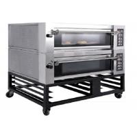 Buy cheap Double Deck Four Trays Electric Baking Oven Gas Deck Oven Steam Stone for Bakery from wholesalers