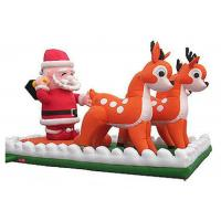 Buy cheap Santa Clause Inflatable Holiday Decorations With Reindeers Double Line Stitched from wholesalers