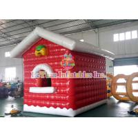 Buy cheap Air Closed Movable Inflatable Christmas Tent Colorful Inflatable House fire retardant product