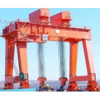 Buy cheap Work Yard A Frame Double Beam Gantry Crane , Rubber Tire Gantry Crane from wholesalers