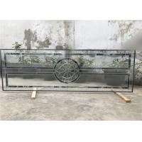 Buy cheap Single Round Head Decorative Panel Glass For Entry Door Low E 3.2m Tempered from wholesalers