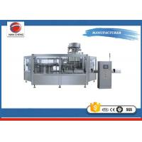 Automatic Water Bottle Filling Machine Round , High Speed Drinking Water Filling Machine