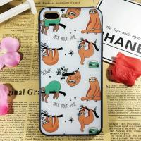 Buy cheap PC+TPU Silk Grain Folivora Play on the Tree Images Cell Phone Case Cover For iPhone 7 6s Plus from wholesalers