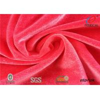Buy cheap Dry - Fit Polyester Velvet Upholstery Fabric , 4 Way Stretch Velvet Fabric 75D/40D from wholesalers